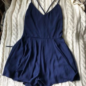 Navy blue romper from express
